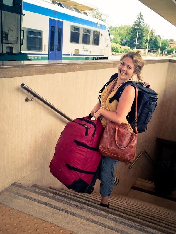 Tawna Brown with Luggage