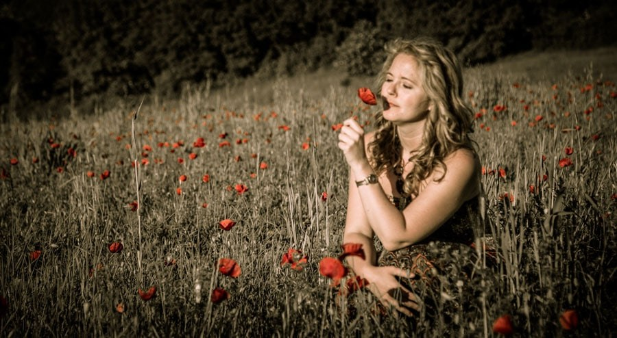 Tawna in Tuscan Poppy Field