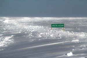 Arctic Ocean Ice Road Sign