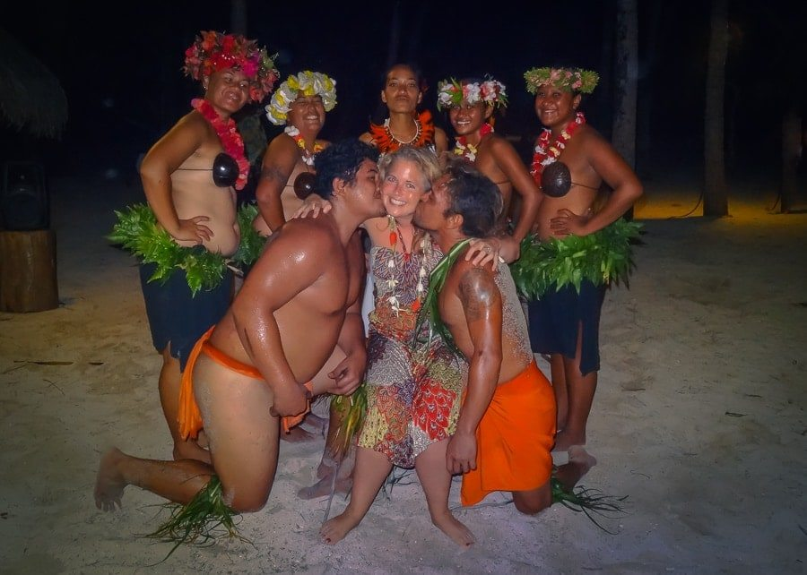 Tawna Brown with French Polynesian Dancers