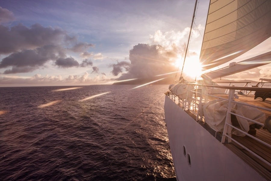 Early morning sunrise in the South Pacific