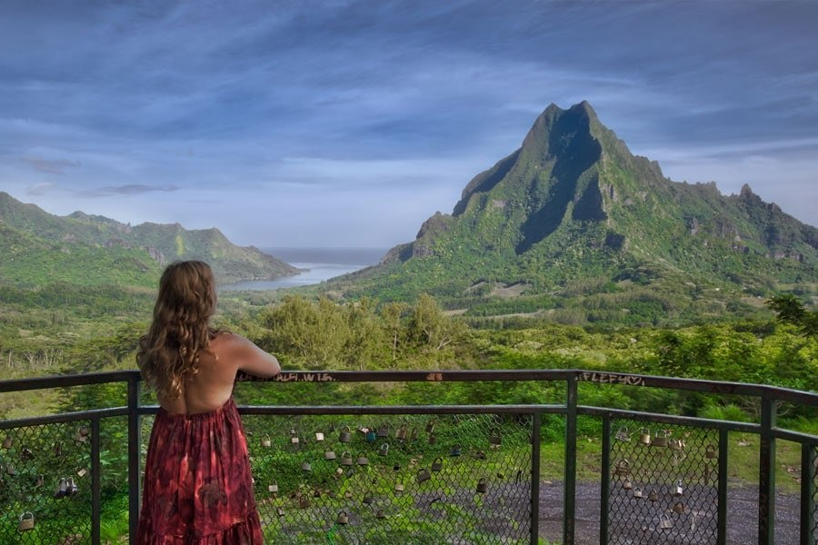 Belvedere Lookout on the island of Moorea