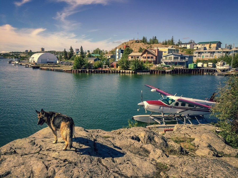Yellowknife View from Air Tindi Floatbase