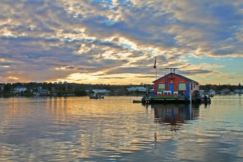 Houseboat on Great Slave Lake